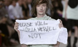 Rick Owens Denounces Model's Protest at Paris Fashion Show