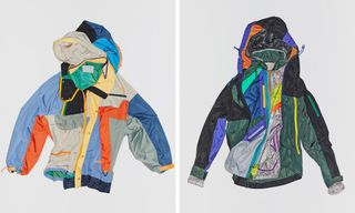 kolor Drops Puzzle-Like Asymmetrical Jackets