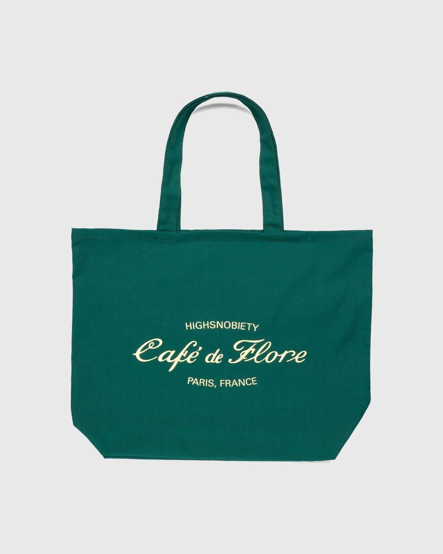 Highsnobiety — Not In Paris 3 x Café De Flore Tote Bag Green - Image 1
