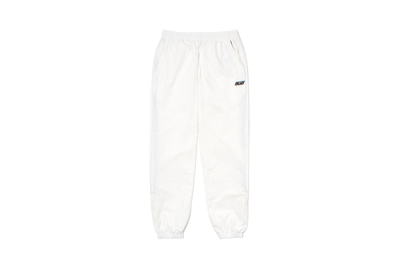 Palace 2019 Autumn Bottoms revealer shell white front