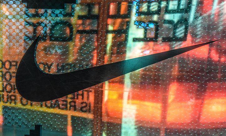 Nike logo at NY flagship store