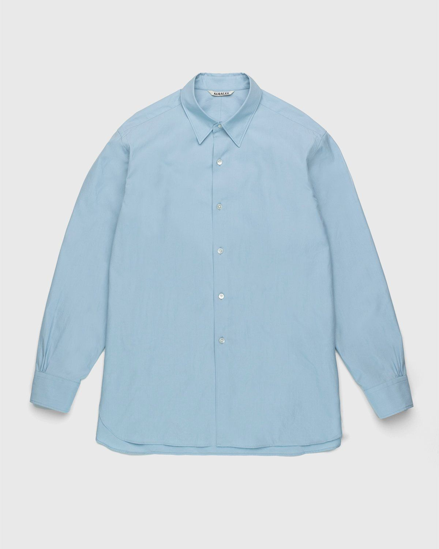 Auralee – Twill Shirt Blue - Image 1