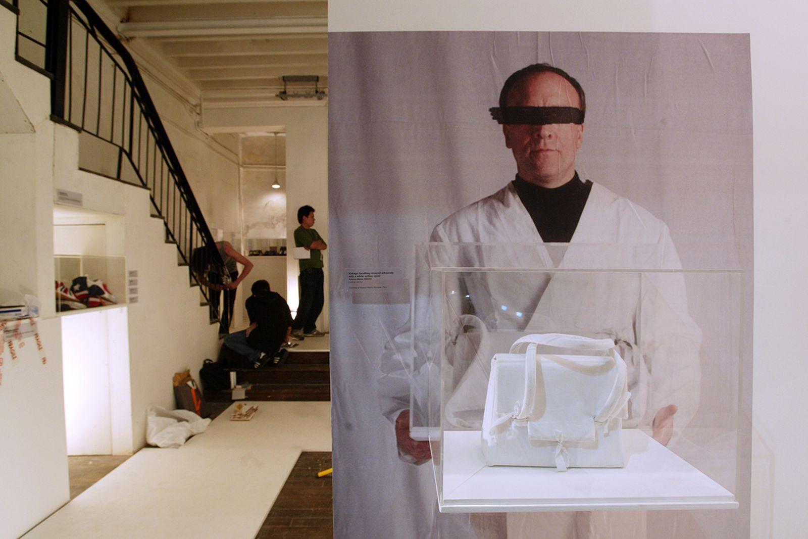 martin margiela artist art works solo show exhibit galeries lafayette zeno x represent sculpture