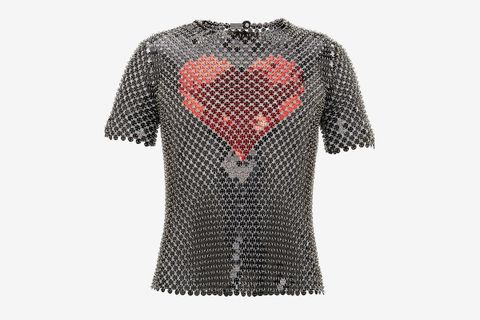 Heart Sequin Chainmail T-Shirt