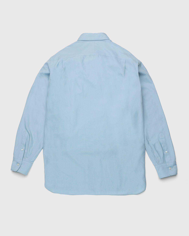 Auralee – Twill Shirt Blue - Image 2