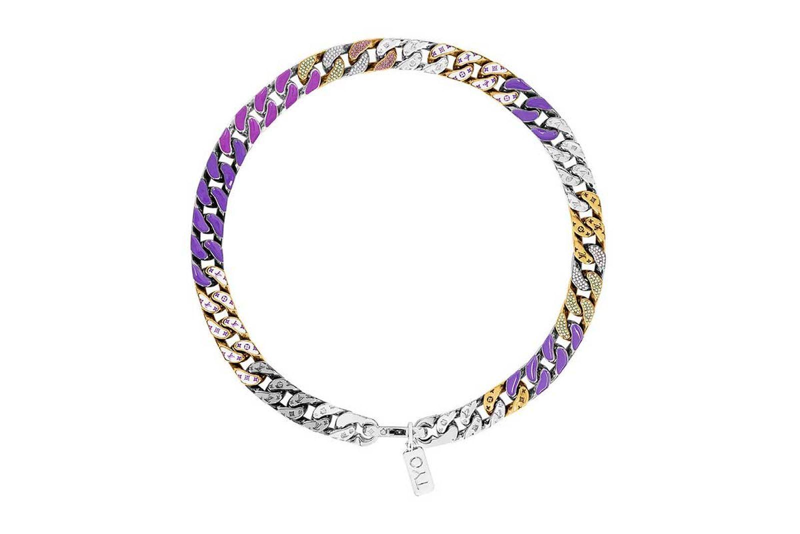 louis vuitton lv chain link neckalces (2)