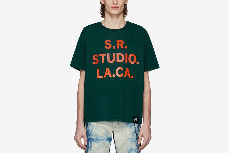 S.R.S. Logo and Vampire Sunrise Basic T-Shirt