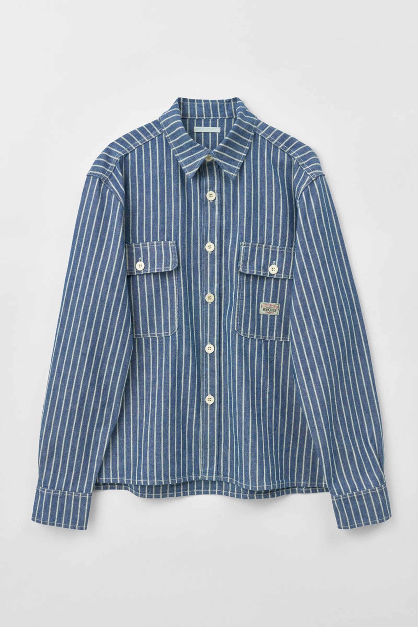 MS202CCS_COUNTRY SHIRT_CHARMBRAY TRIPE