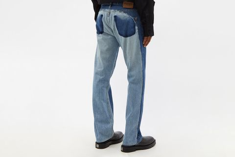 Patchwork Recycled-Denim Jeans