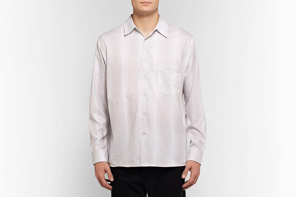 Snake-Print Woven Shirt