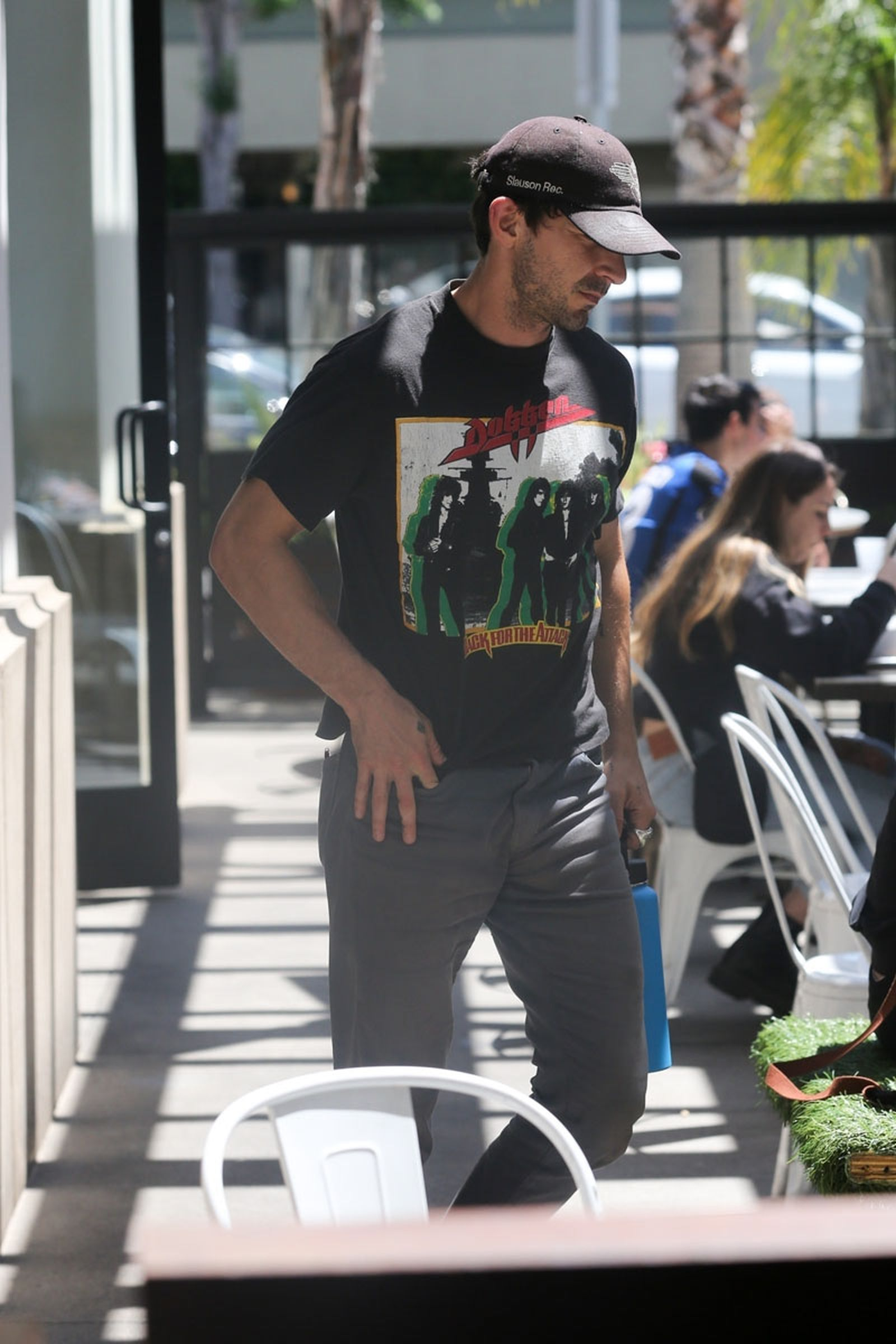 *EXCLUSIVE* Shia LaBeouf eats a solo lunch in Los Angeles