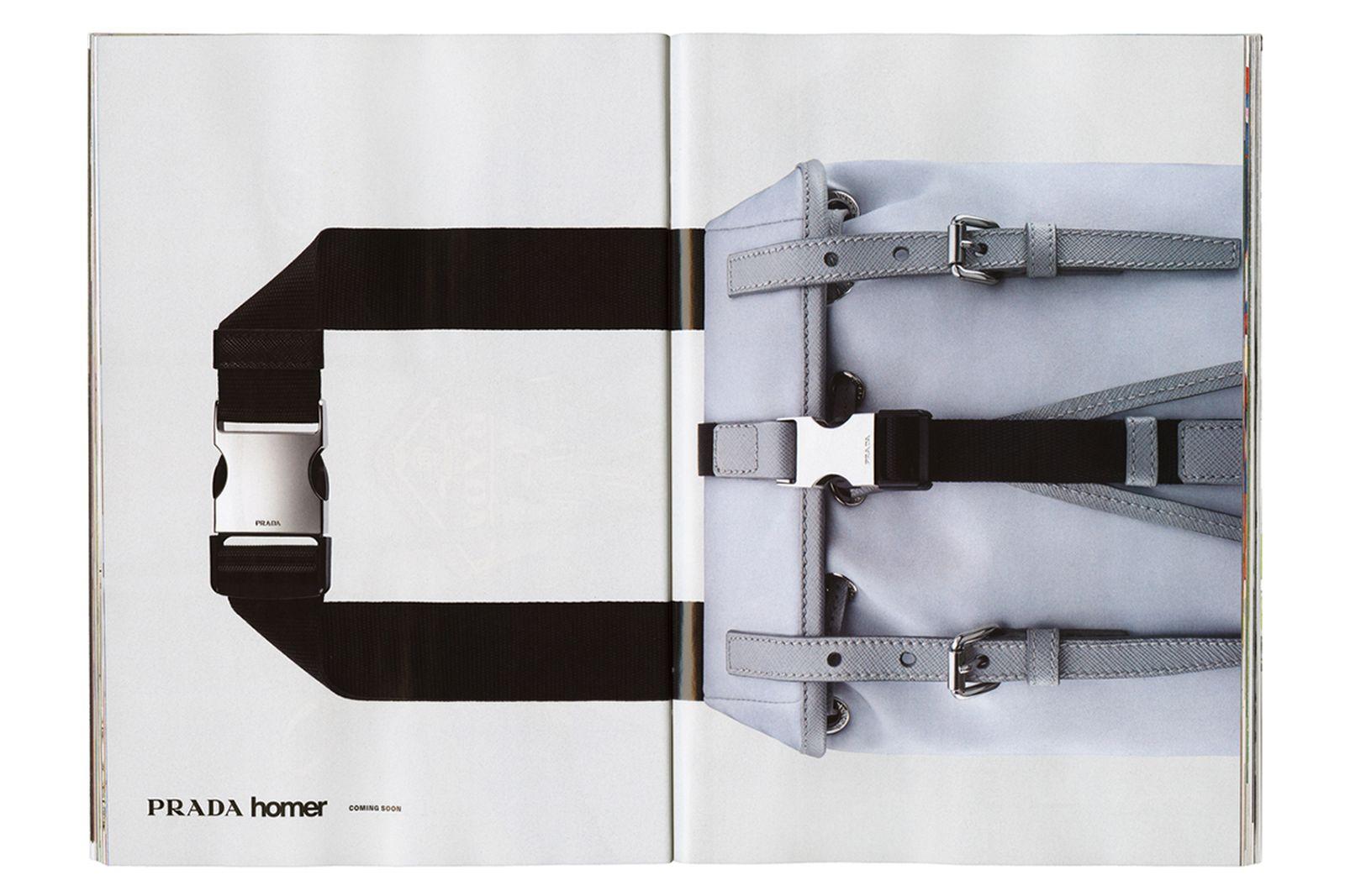 Frank Ocean Homer prada collaboration bag Brand store Catalog collection jewelry silk scarves