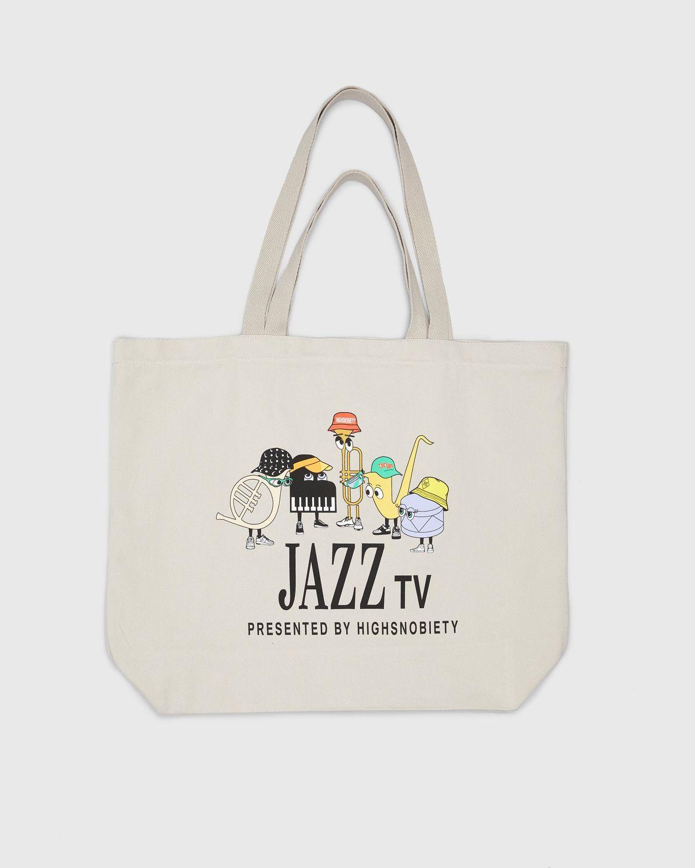 Newport Jazz Logo - Tote Beige - Image 1
