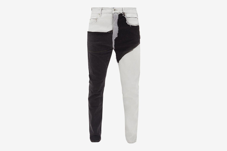 Detroit Cut Collage Stretch Jeans