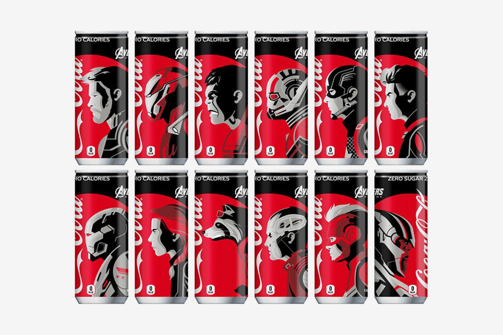 avengers endgame coca cola cans Avengers: Endgame marvel