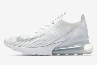 "e6214cd7a4ee36 Nike Gives the Air Max 270 Flyknit a ""Triple White"" Makeover"