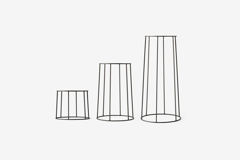 Wire Pot + Oil Lamp + Planter