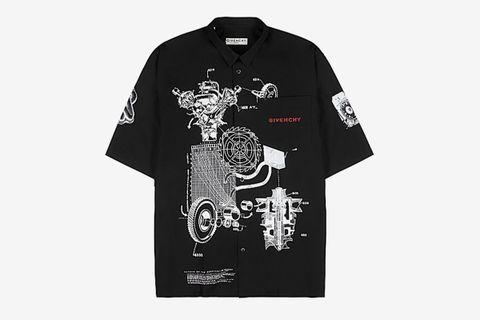 Black printed Cotton Shirt