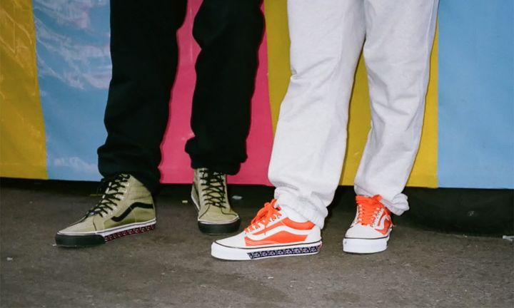 Patta Vans green Sk8-Hi orange Old Skool