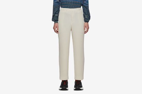 Pleats Tailored Straight Leg Trousers