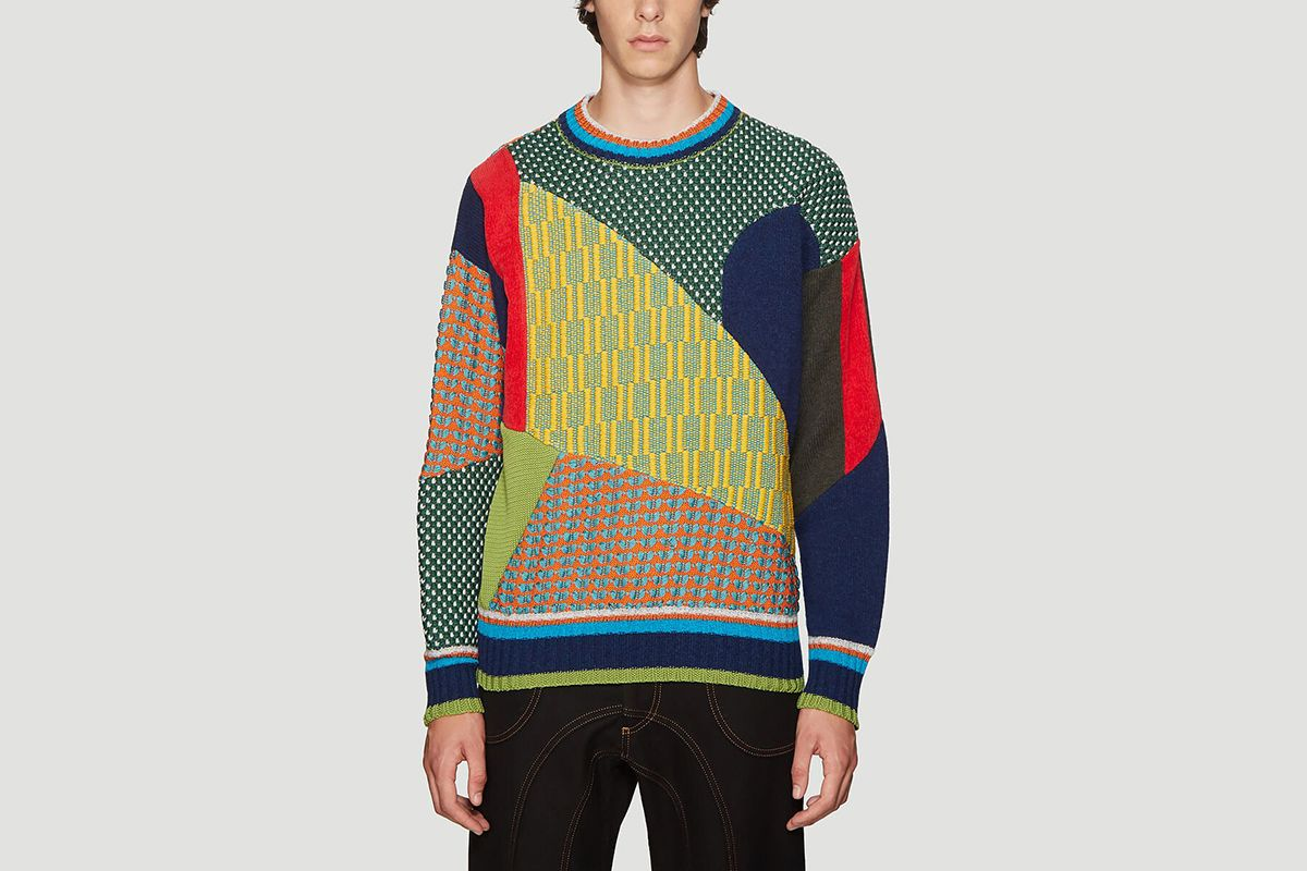 Patchwork Knitted Sweater