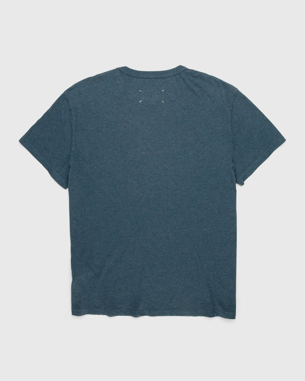 Maison Margiela – Logo T-Shirt Blue - Image 2