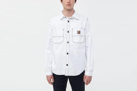 Chalk Twill Shirt Jacket