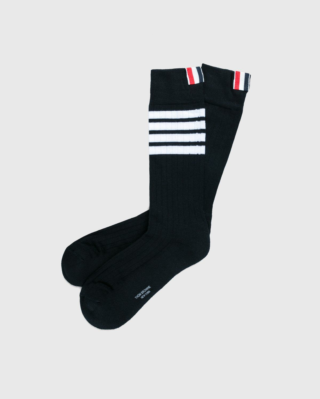 Thom Browne x Highsnobiety — Women's Mid-Calf Socks Grey - Image 2