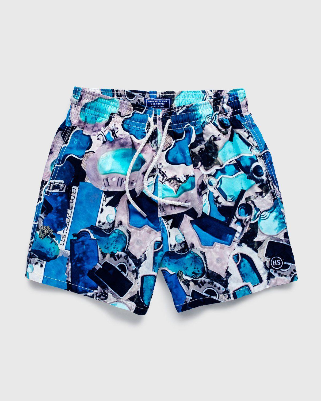 Vilebrequin x Highsnobiety — Pattern Shorts Blue - Image 1
