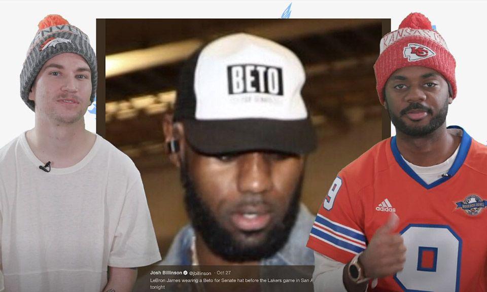 2667662b876b LeBron James Wears Beto O Rourke Hat Before Game