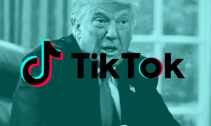 "Tump image with ""TikTok"" overlaid text"