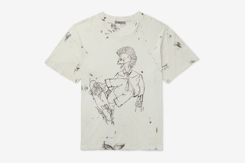 Eastlake Distressed Printed Cotton-Jersey T-Shirt