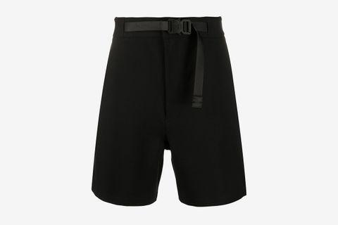 Belted Waist Cargo Shorts
