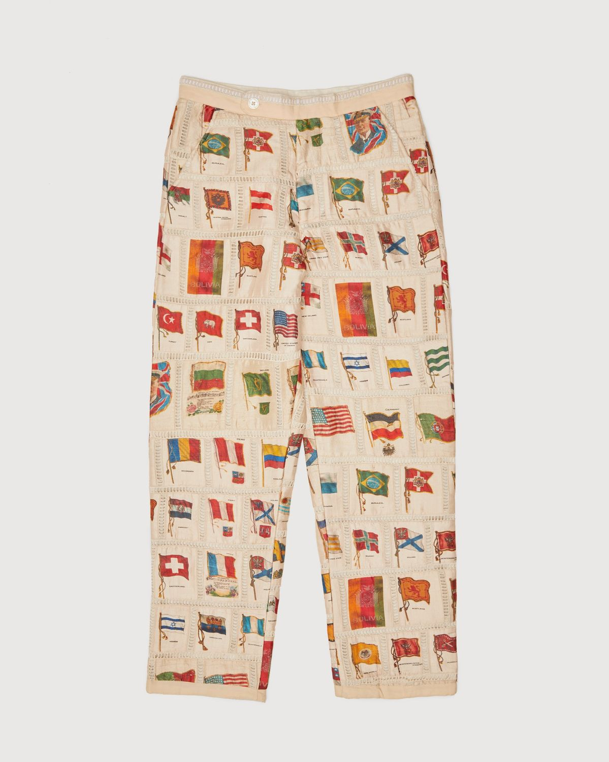 BODE - Tobacco Flag Patchwork Trousers Natural - Image 1