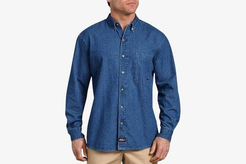 Long Sleeve Button Down Denim Shirt