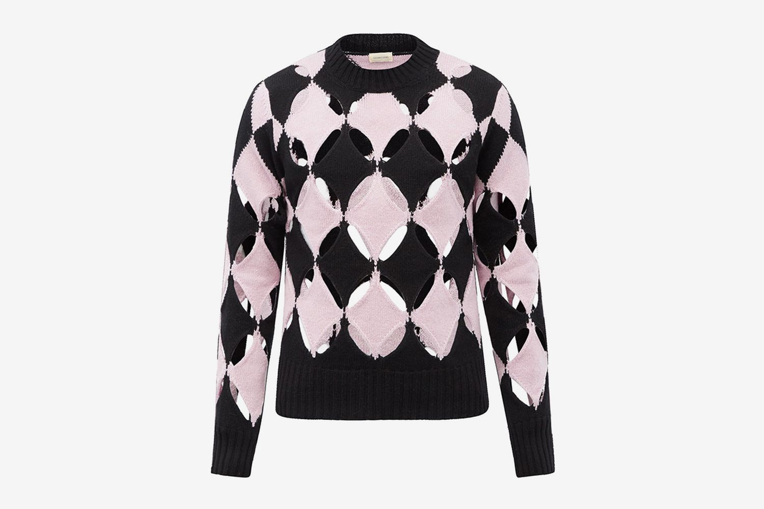 Slashed Cutout-Wool Sweater