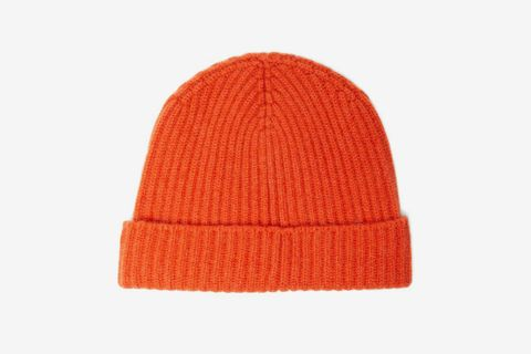 Alex Ribbed Cashmere Beanie Hat
