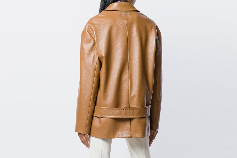 Oversized Leather Jacket