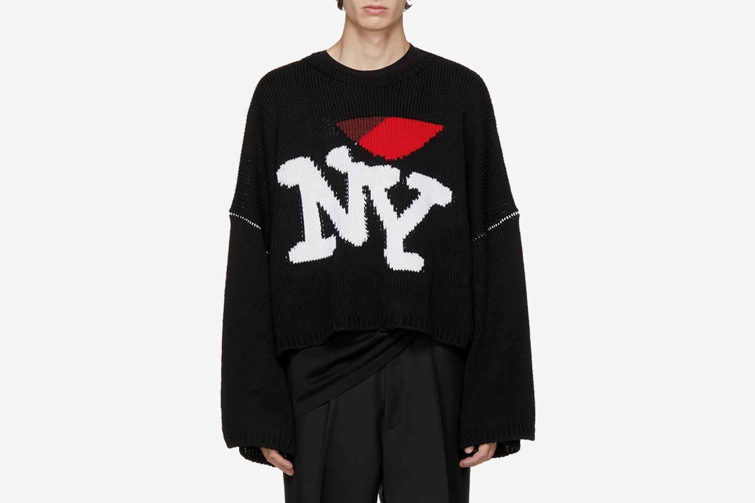 Oversize 'I Love NY' Sweater