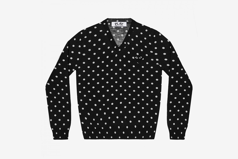 PLAY Polka Dot V Neck Sweater