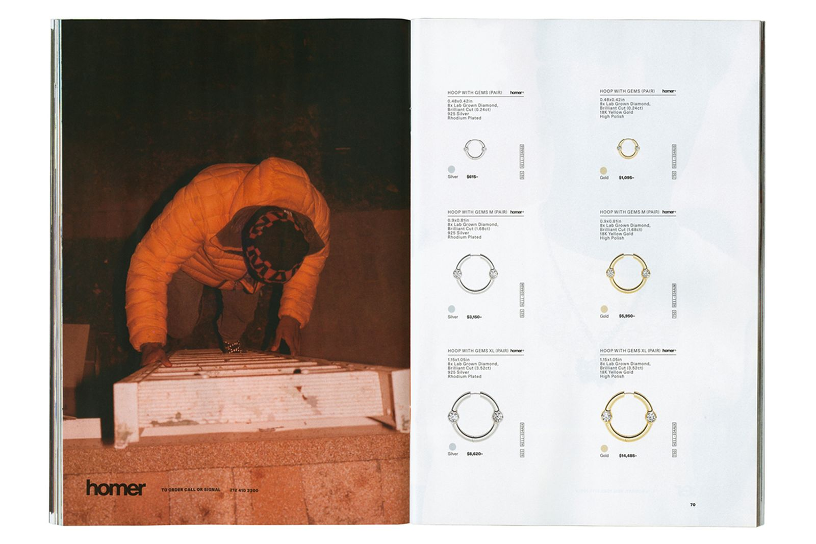 Frank Ocean Homer Brand store Catalog collection jewelry silk scarves earring