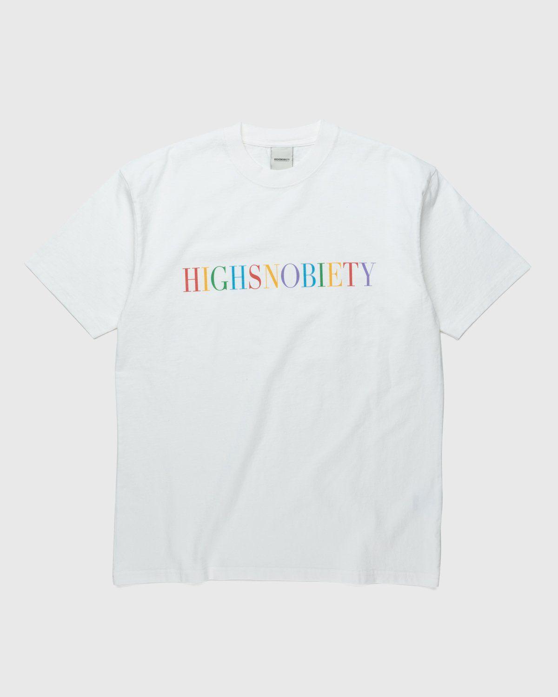 Highsnobiety – Rainbow T-Shirt White - Image 1