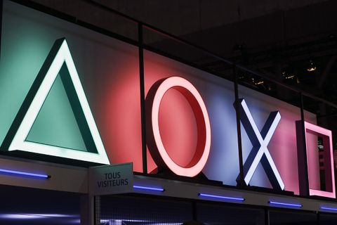 Sony PlayStation Buttons Logo is displayed during the 'Paris Games Week'