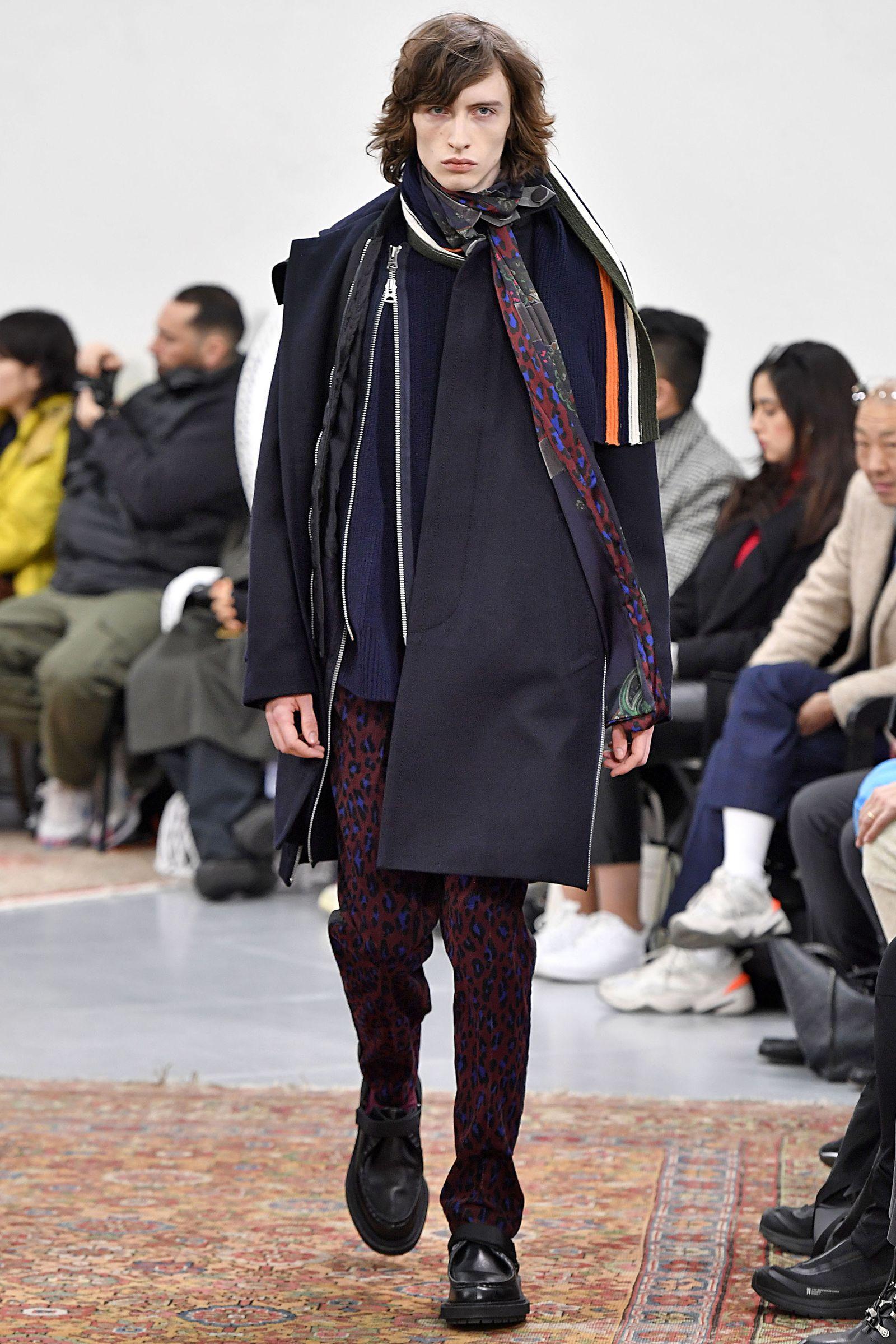 Sacai Paris Menswear Fashion Week Fall Winter 2019 Paris Jan 2019 pfw19 runway