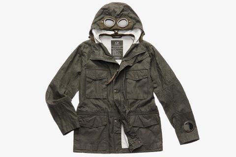 Plated Linen Utility Goggle Jacket