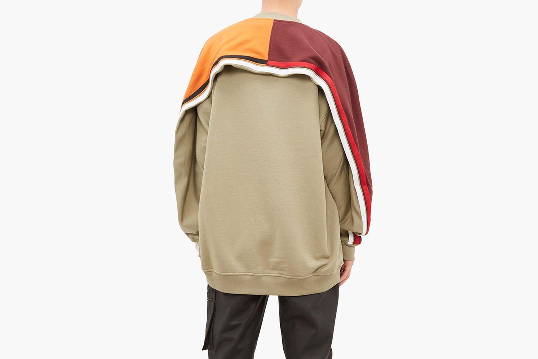 Colour Blocked Cotton Jersey Sweatshirt