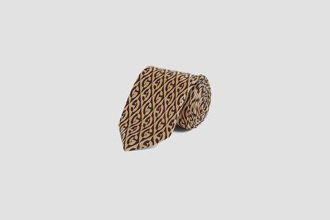 G pattern Silk Tie