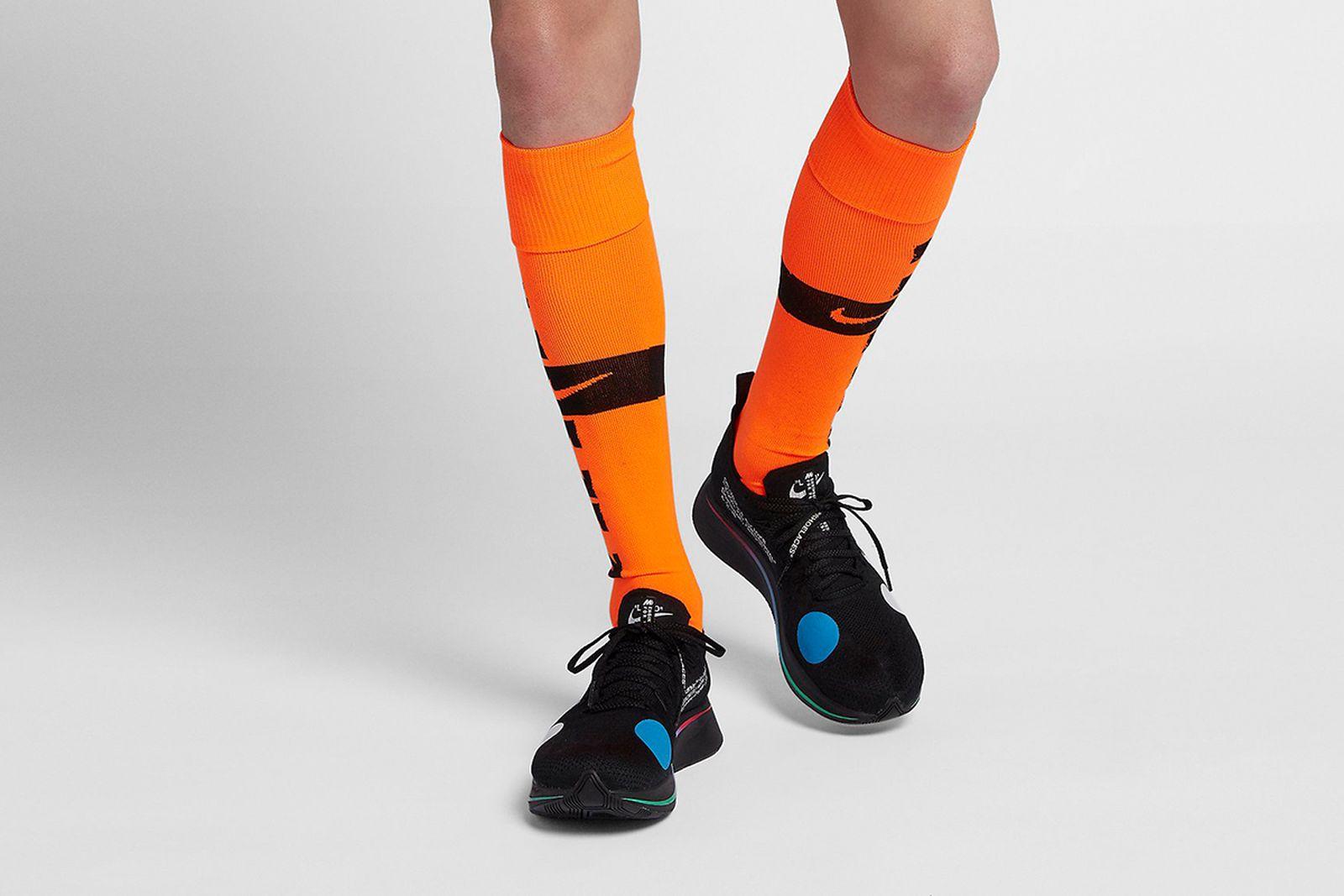 soccer socks orange 2018 FIFA World Cup Nike OFF-WHITE c/o Virgil Abloh