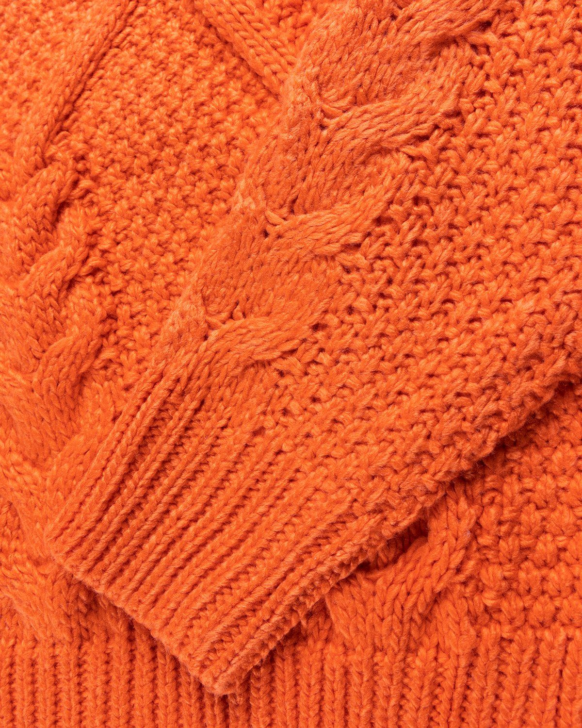Winnie New York - Intwined Cable Knit Sweater Red - Image 4