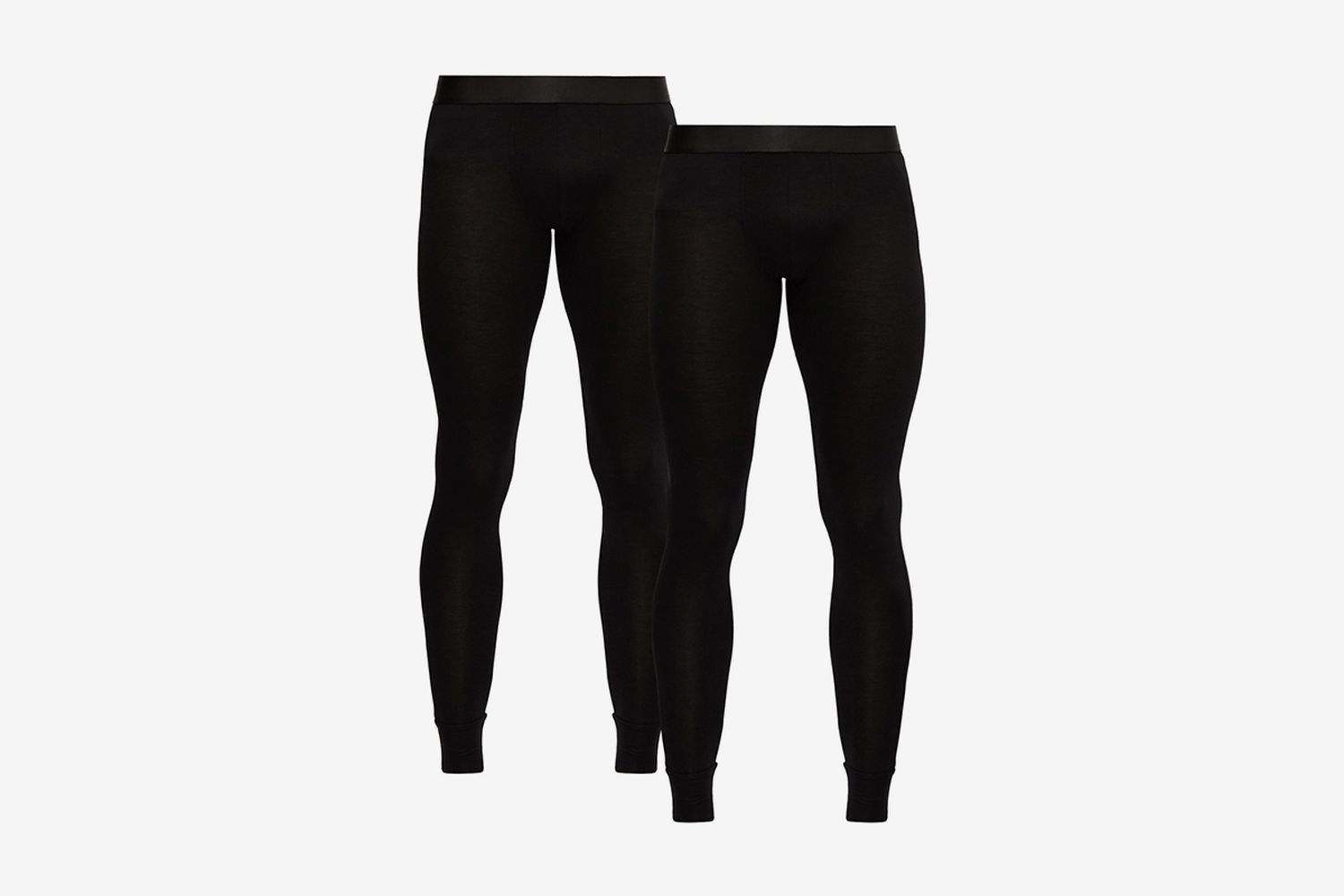 Pack Of 2 Stretch-Jersey Thermal Leggings